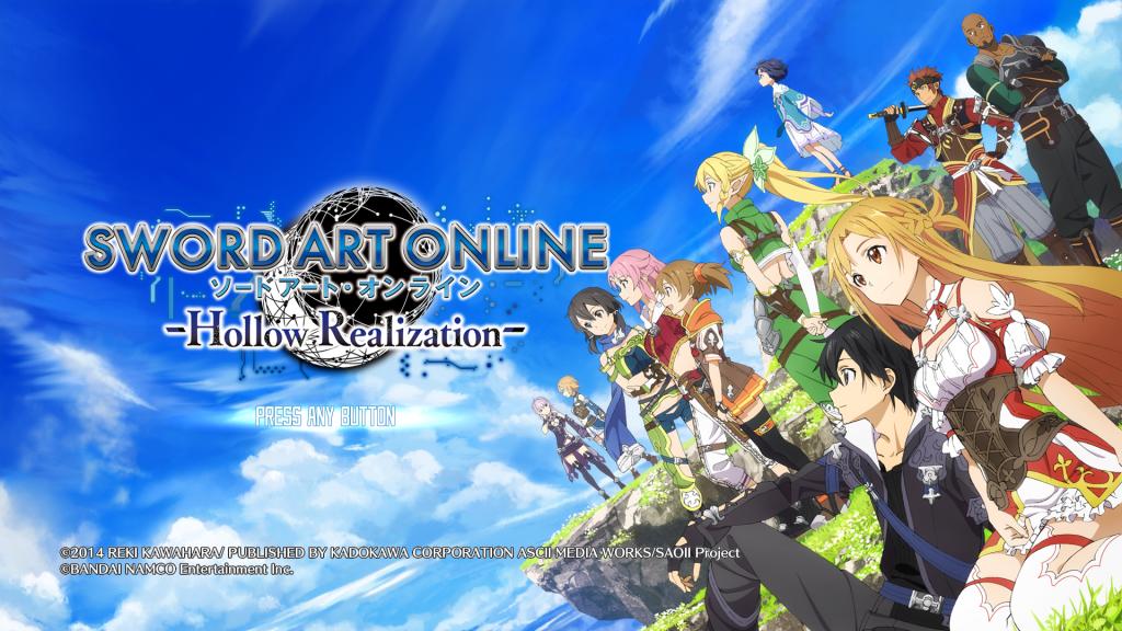 Sword Art Online: Hollow Realization Title Screen
